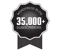 Over 35,000+ WordPress Followers Ribbon