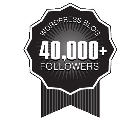 40,000 WordPress Followers Badge Ribbon Award