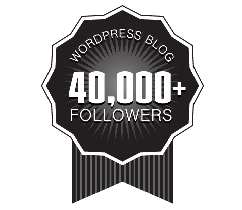 40,000 WordPress Followers Badge Ribbon Award