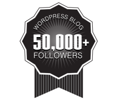 Over 50,000+ WordPress Followers Ribbon