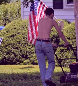 american-usa-mowing-lawn-flag