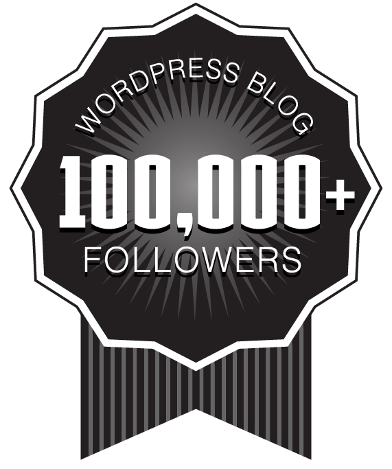 Over 100,000+ WordPress Followers Ribbon