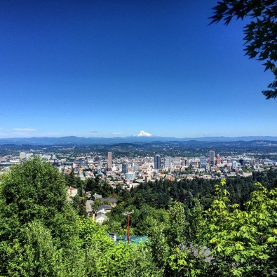 Here we are at the Pittock Mansion above Forest Park. Pretty crazy to see Mt. Hood after so long.