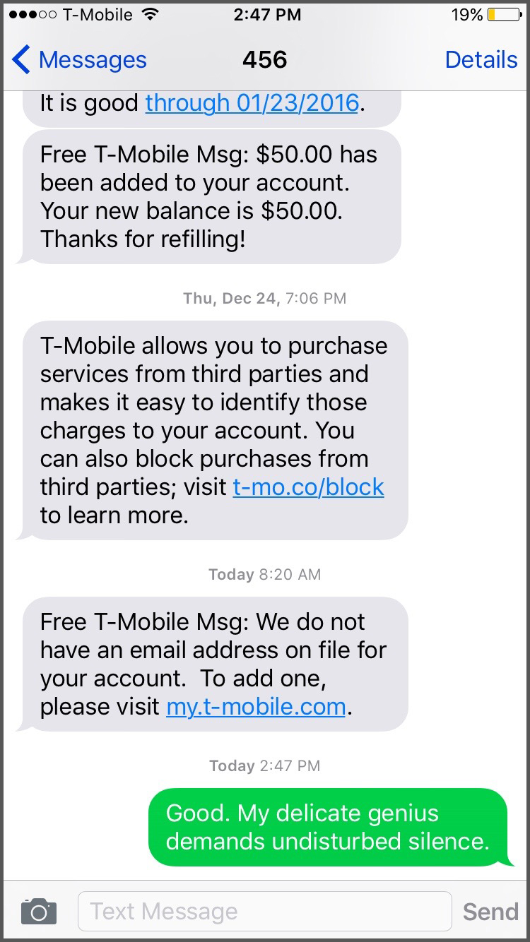 t mobile automated messages funny screenshots 1