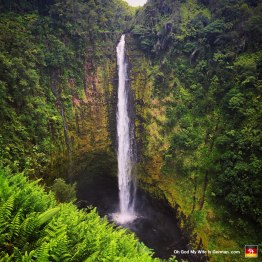 This here is Akaka Falls. I took like 15 pictures of myself licking, touching or otherwise molesting that waterfall.