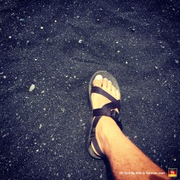 And the black sand beach was HOT, man. You couldn't take more than two steps barefoot before you were forced to sprint back to the picnic blanket like a little bitch.