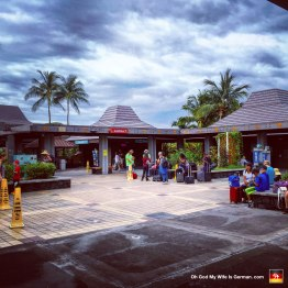 """There's the Kona International Airport. Everything is outdoors -- even baggage claim -- so you really get that """"strip mall"""" feeling as you leave paradise."""