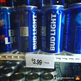 This is just one of a dozen little stores at the resort. And yes, you read that right: $3.99 each. Not per 6-pack... EACH.