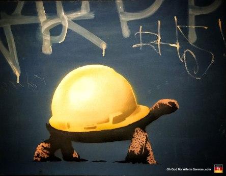 36-banksy-exhibit-amsterdam-hard-hat-tortoise
