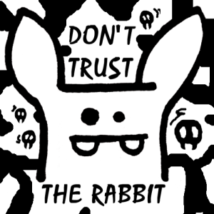Don't Trust the Rabbit YouTube Trixi logo