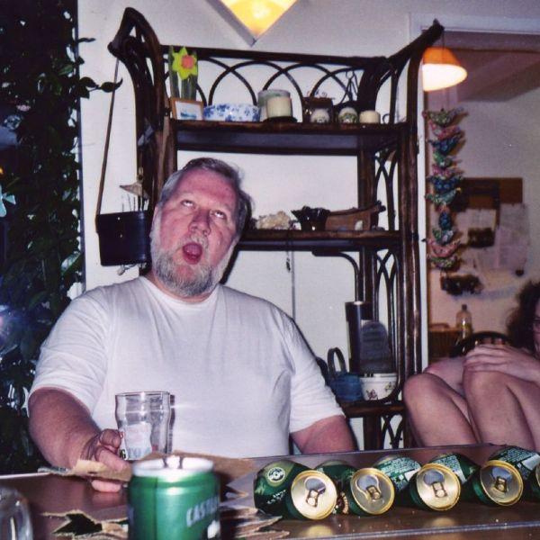 loud burp with beer