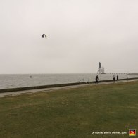 At least the cutting wind is good for kitesurfing, right? (Jesus Christ, those guys are crazy.)