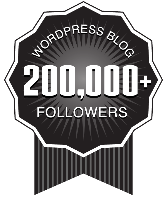 American Blogger in Germany - 200,000 WordPress Followers Award Ribbon
