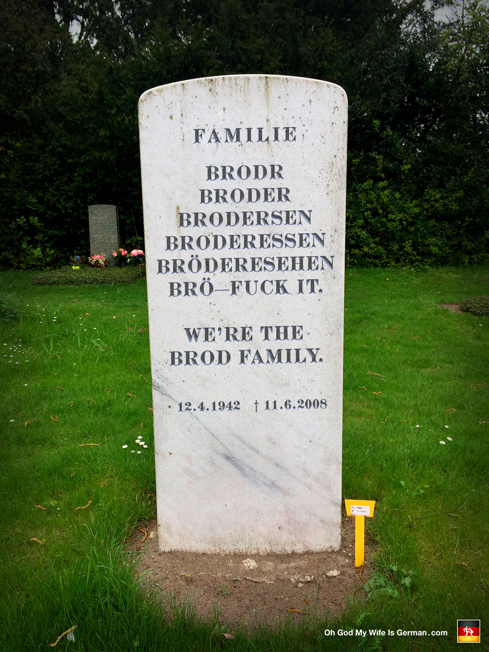 Funny Gravestones Epitaphs And Famous Last Words Brod Oh