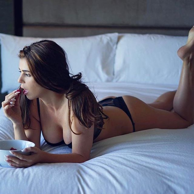 german woman in bed