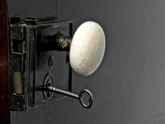 Old American Door Knob with Key
