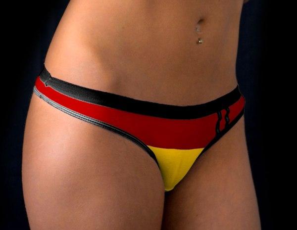 Sexy German Woman Underwear Deutschland Flag