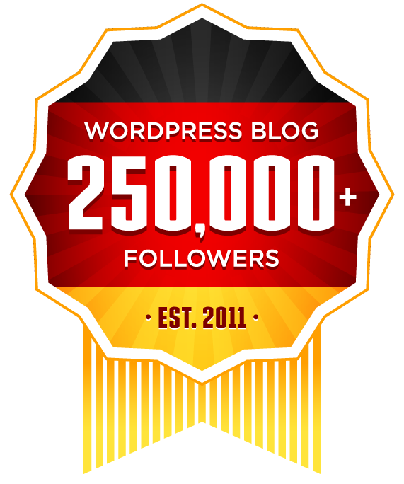 Living in Germany (Deutschland) - 250,000 WordPress Followers Award Ribbon